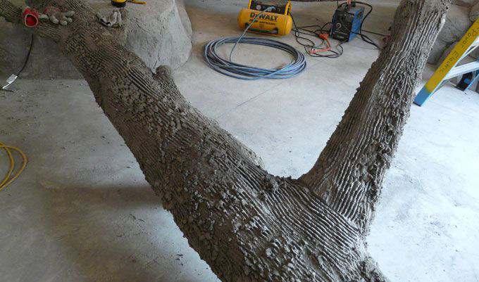 MONKEY-EXHIBIT-Concrete-LOGS-scratch-complete