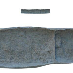 """RockMolds Sandstone Landscape Edging Stamp """"B"""" – 44″ length, 1″ depth, Ultra-flex LES102"""