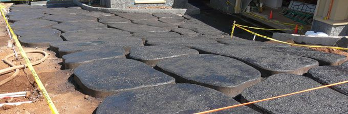 How to make lava stone driveway for Lava rock pavers