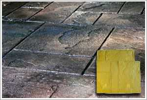 RockMolds Ashler Notched Slate A Concrete Stamp Yellow Rigid CSSR-ASHLY
