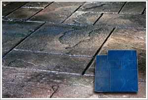"RockMolds Ashler Notched Slate ""A"" Concrete Stamp Blue Rigid CSSR-ASHB"