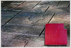 "RockMolds Ashler Notched Slate ""A"" Concrete Stamp Red Rigid CSSR-ASHR"