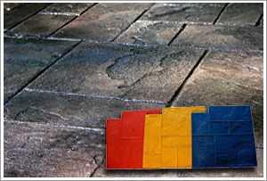"""RockMolds Ashler Notched Slate """"A"""" Concrete Stamp Set – 5 pc CSS5-ASHL"""
