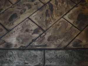 RockMolds CSSR GRB8 Grand Runningbond Slate Concrete Stamp Set