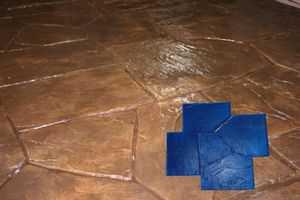 RockMolds CSSR-NCSB CastleStone Concrete Stamp Blue Rigid
