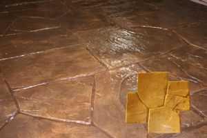 RockMolds CSSR-NCY CastleStone Concrete Stamp Yellow Rigid