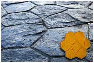 "RockMolds CSSR-RANY Random Stone Concrete Stamp ""B"" – Yellow Rigid"