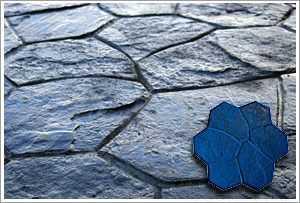 "RockMolds CSS1-RANB Random Stone Concrete Stamp ""B"" – Blue Rigid"