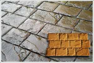 RockMolds CSSR-ROCB Roman Cobble Concrete Stamp Rigid