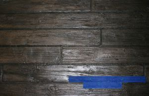 RockMolds Weathered Wood Wood Plank Concrete Stamp – Blue CSSR-WWP5