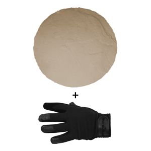 SpidaStamp:  Boston Travertine, Seamless Skin, 9″, Floppy With Gloves